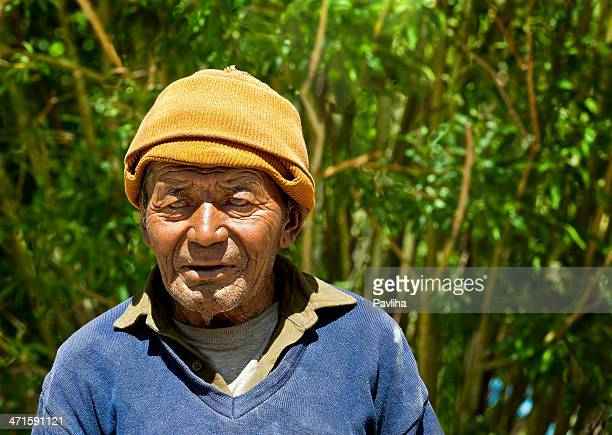 senior indian in khardung village northern india - pavliha stock photos and pictures