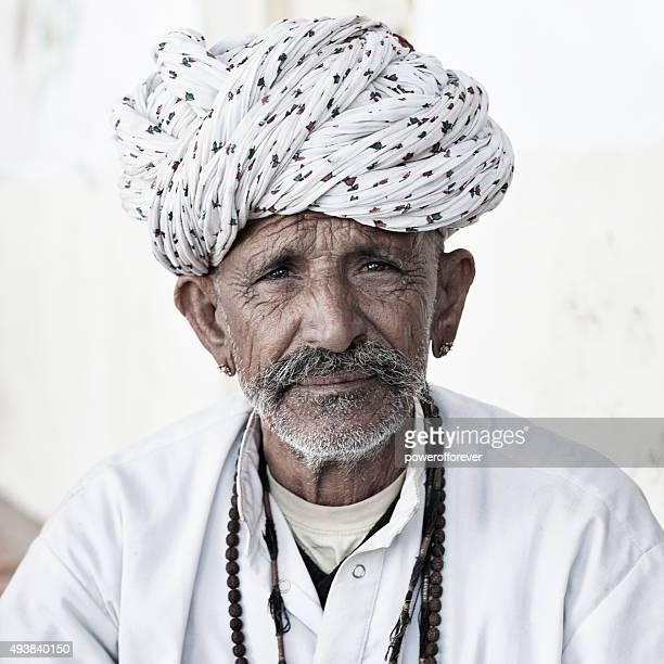 Senior Indian Man in Salapura Village, Rajasthan, India
