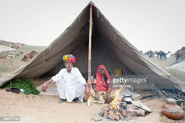 Senior Indian Tribal Couple - Pushkar Fair