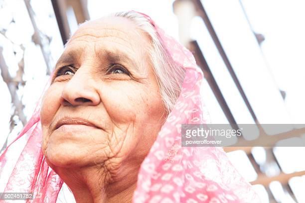 Senior Portrait de femme indienne