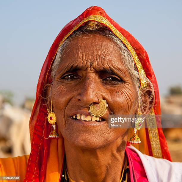 senior indian woman real people portrait - nose piercing stock pictures, royalty-free photos & images