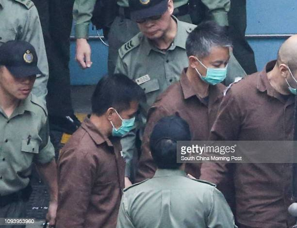 Senior Inspector Sergeant Pak Wingbun Chief Inspector Wong Choshing depart Lai Chi Kok Reception Centre They will be sent to Stanley Prison Tung Tau...