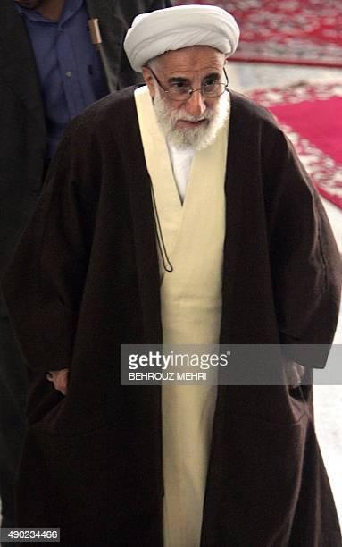 Senior Iranian cleric Ayatollah Ahmad Jannati attends the weekly Friday prayers at Tehran university 12 January 2007 Jannati said today that US...