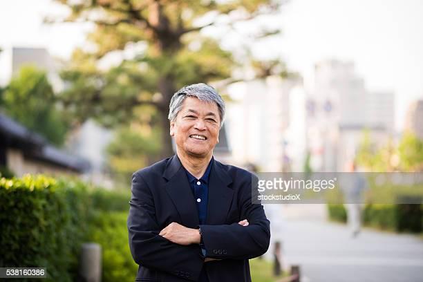 シニア日本の男性