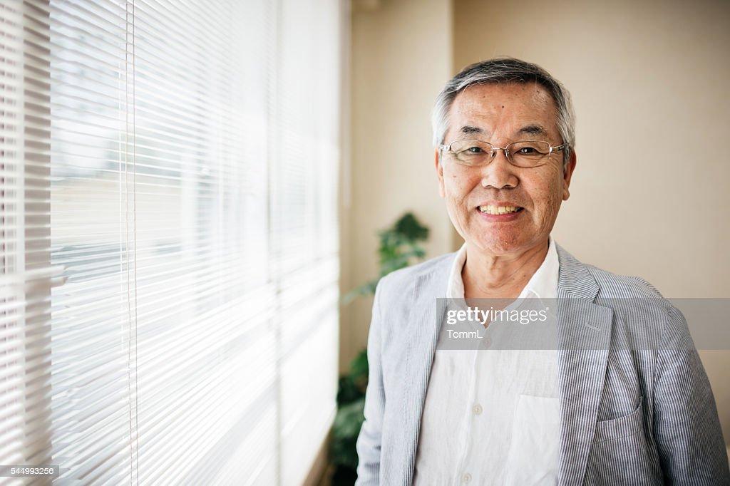 Senior japanese Man Portrait : Stock Photo