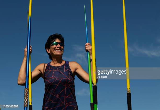 Senior Javelin Thrower Linda Cohn aged sixty six poses for a portrait during the Huntsman World Senior Games on October 14 2019 in St George Utah...