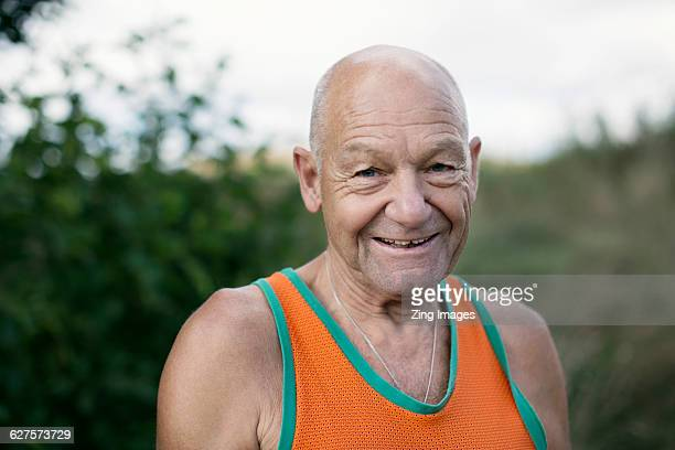 Senior jogger, portrait
