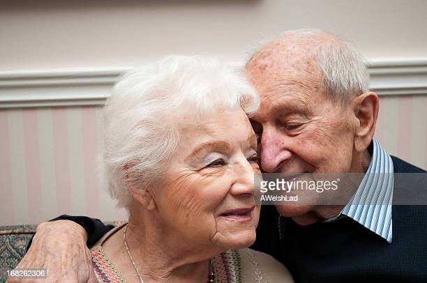 Senior loving couple