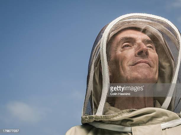 senior male  beekeeper - 養蜂家 ストックフォトと画像