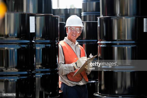 Senior male worker at industrial plant