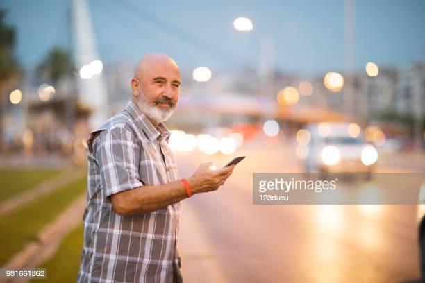 Senior Man At City Street