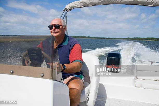 Senior Man at the Helm