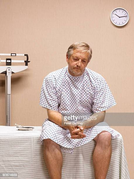 senior man awaiting treatment in a and e - waiting stock pictures, royalty-free photos & images