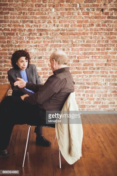 Senior man consulting