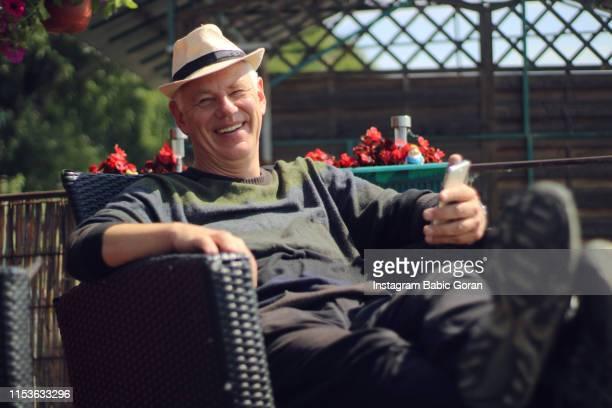 Senior man enjoy in nice day