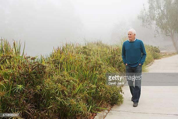 Senior man enjoying stroll in the park