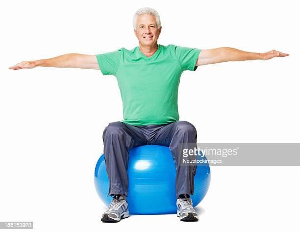 Senior Man Exercising - Isolated