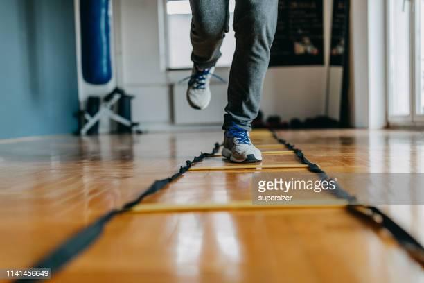 senior man exercising - human leg stock pictures, royalty-free photos & images