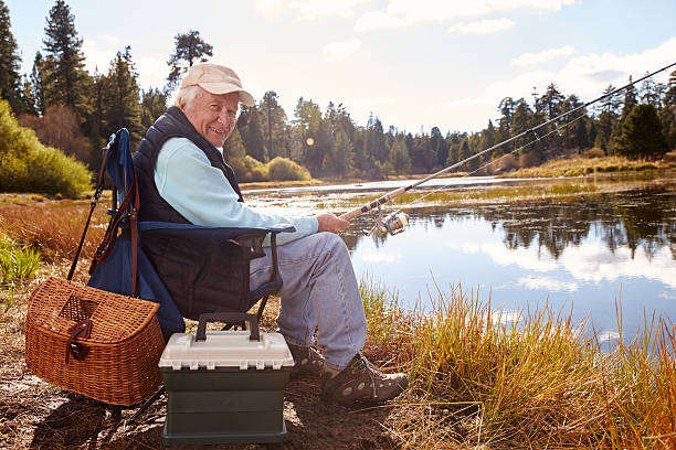 Free old man sitting in chair images pictures and for Senior fishing license