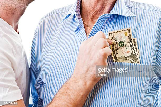 senior man getting his pension stolen - victim stock pictures, royalty-free photos & images