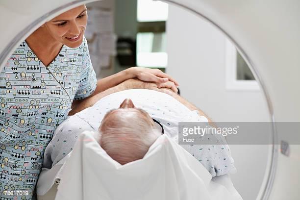 Senior Man Getting MRI Exam