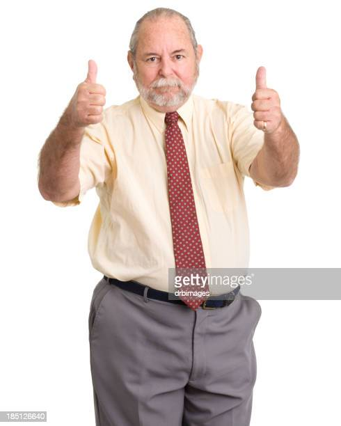 Senior Man Gives Two Thumbs Up