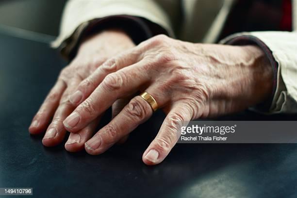 Senior man hands