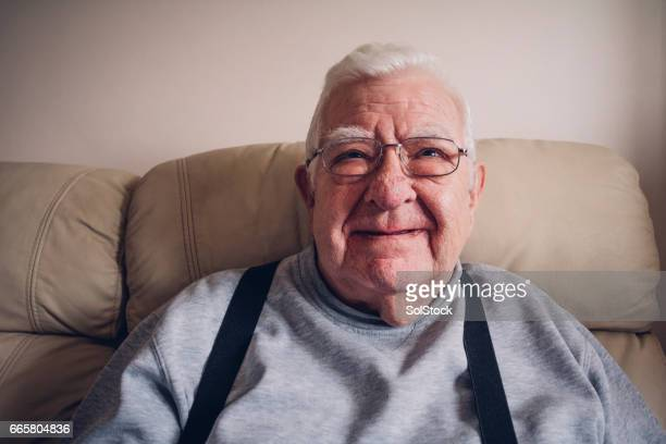 Senior Man Happy at Home