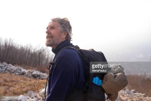 Senior Man Hiking Portrait