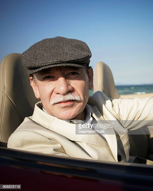 Senior Man In Car