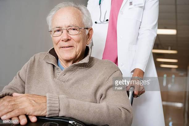 Senior Man in Hospital