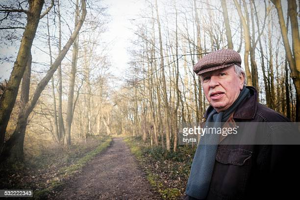 Senior man in the forest