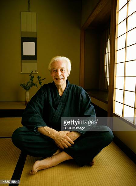 Senior Man In Traditional Japanese House