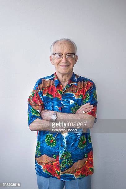 Senior Man in Tropical Shirt