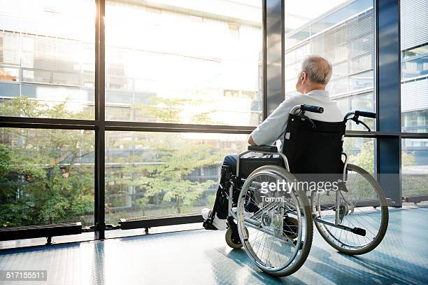 Senior Man in Wheelchair