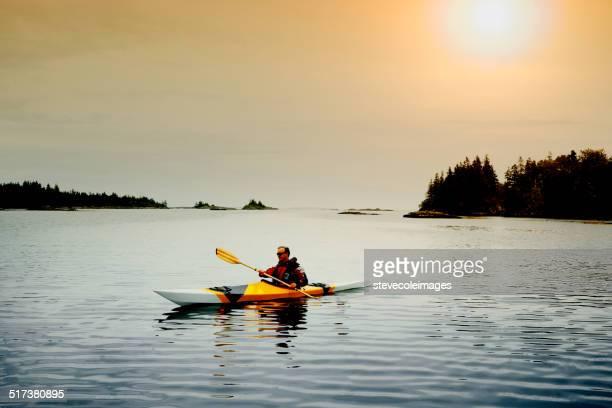 Senior Man Kayaking