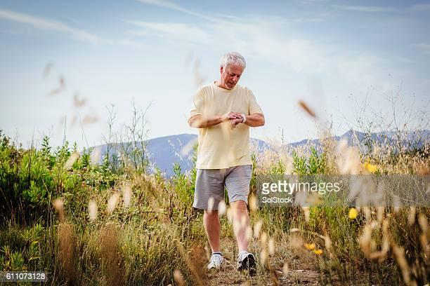 Senior Man Keeping Active