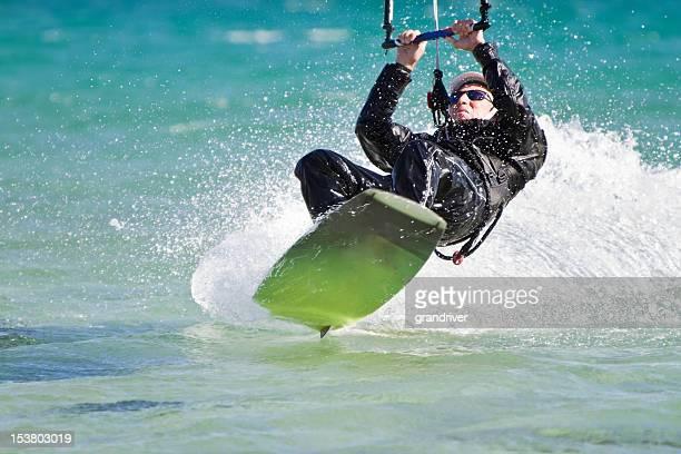 Senior Man Kiteboarding
