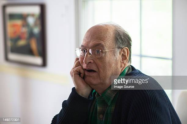 senior man looking confused - staring stock photos and pictures