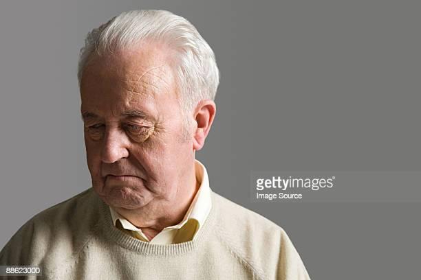 Senior man looking upset