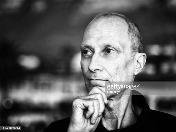 senior man looks serious, underweight and possibly ill - thin stock pictures, royalty-free photos & images
