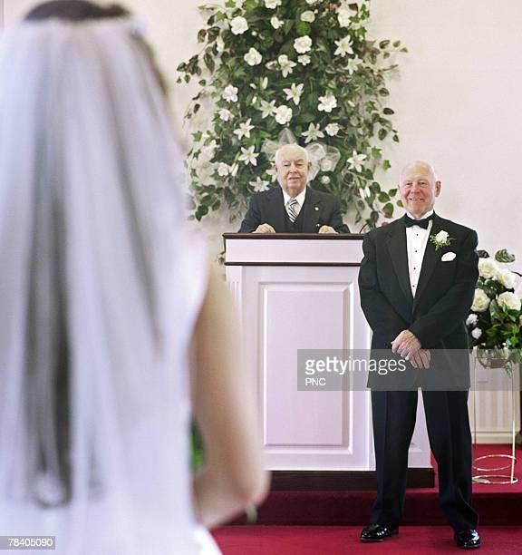 Senior man on wedding day