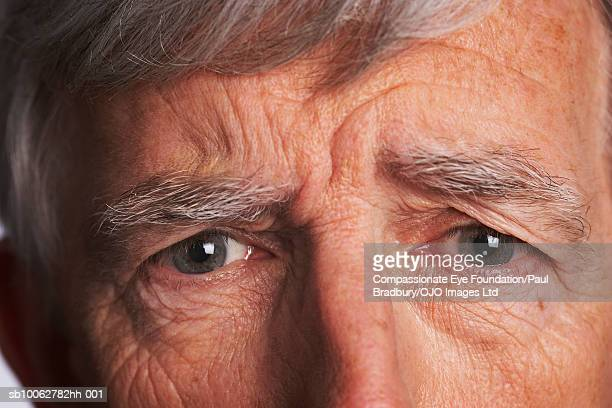Senior man, portrait, close-up of eyes