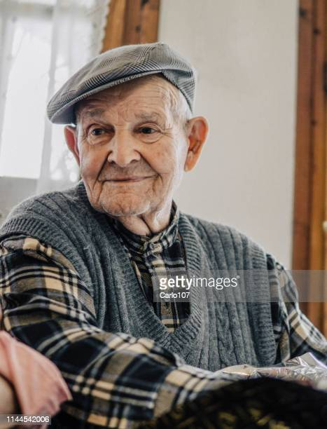 senior man portrait - 90 plus years stock pictures, royalty-free photos & images