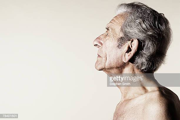 Senior man, profile