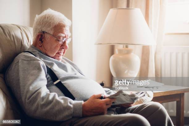 Senior Man Reading his Newspaper