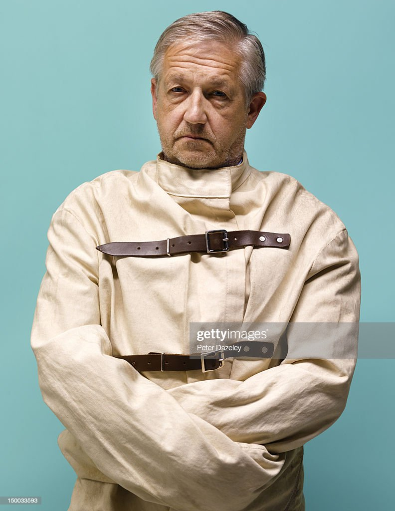 Guy in straight jacket