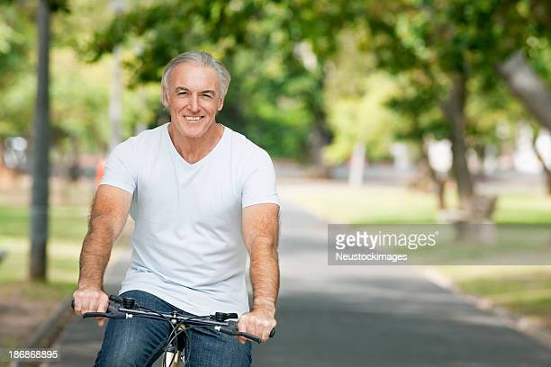 Senior Man Riding a Bike