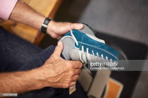 Senior man shopping