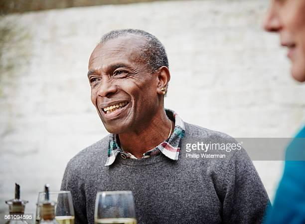 Senior man smiling, portrait